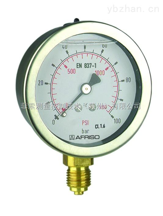 进口弹簧管压力表 充液耐震