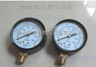 YEA/THEI燃氣壓力表,60mm,0-25kg/cm2,350PSI,煤氣高壓壓力表