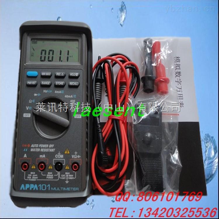 通路测试 通路临界值:约40Ω 通路指示:2KHz的蜂鸣器 输入保护:600V直流或是交流有效值 二极管测试 测试电流:0.6 mA 开路电压:直流约3.0V 输入保护:600V直流或是交流有效值 频率计 量程:100Hz,1KHz,10KHz,100KHz,1MHz。 分辨率:100Hz量程的分辨率为0.01Hz 输入保护:600V直流或是交流有效值 模数转换 显示:每毫伏(DC)10格 精度:±(0.