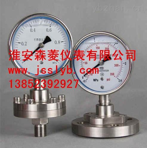 不锈钢隔膜压力表 Y-100B/Z/MF/316L