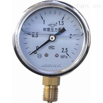 YTXC-100TQ-Z-耐振压力表径向带前边压力表