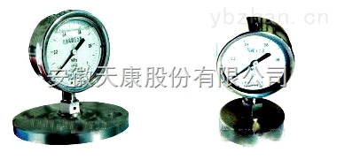 YMN系列隔膜式耐振压力表 ,天康隔膜耐振压力表
