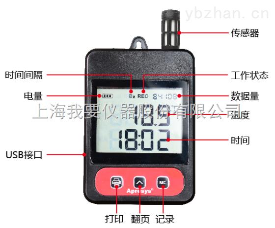冷藏车冷藏箱冷链包专用温度记录仪179-TL